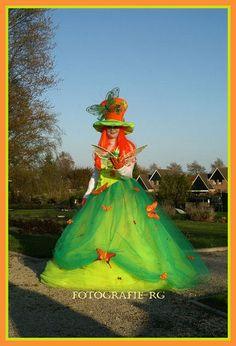 Vlinderfee, butterfly fairy, vlinder, levendstandbeeld, living statue www.spontaantheater.nl