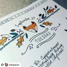 @katipauls creates lovely, charming headers to greet the day. (#bulletjournalcollection)