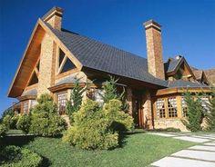 Decoração e Projetos Fachadas de casas com telhado colonial