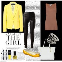 Some would say yellow and black are the worst combination ever. Combine your yellow blazer with blac. Yellow Blazer, Fashion Forward, Celebrity Style, Celebrities, Board, Polyvore, Fashion Trends, Outfits, In Trend