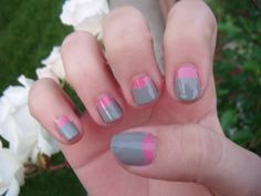 my half-moon manicure nails