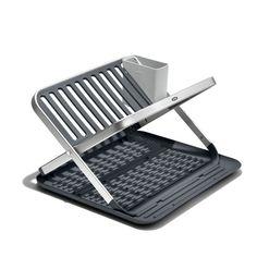 OXO Good Grips Aluminum Fold Flat Dish Rack Straw Holder, Dish Racks, Layers Design, Good Grips, Clean Design, Organizer, Kitchen Organization, Innovation Design, Helpful Hints