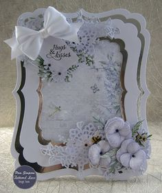 4 Beautiful New Tattered Lace Botanical Butterfly Frame Die Cut Toppers