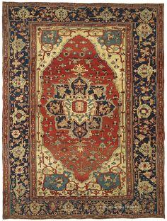 SERAPI, Northwest Persian 9ft 3in x 12ft 7in Circa 1875 http://www.claremontrug.com/antique-oriental-rugs-carpets/