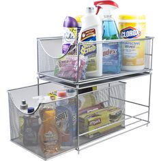 Sorbus Cabinet Organizer Drawer Set—Silver Mesh Storage Organizer w/ Pull Out Drawers—Stackable and Ideal for Countertop, Cabinet, Pantry, Under the Sink, Desktop and More Under Kitchen Sink Organization, Under Sink Storage, Pantry Organization, Kitchen Storage, Trailer Organization, Sink Organizer, Organizers, The Home Edit, Home Decor Kitchen