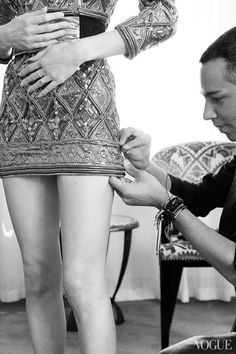 Backstage at Balmain. Inspiration for Model Under Cover. http://www.carinaaxelsson.com #modelundercover