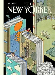 "The New Yorker ""Summer Adventures"" cover / by Joost Swarte"