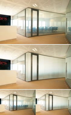 Privacy Glass solution for high-tech interior partitioning screens at the Torre…