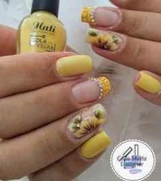 Cute Toe Nails Designs Yellow New Ideas Cute Toe Nails, Aycrlic Nails, Pretty Nails, Hair And Nails, Flower Nail Designs, Toe Nail Designs, Nail Polish Designs, Funky Nail Art, Funky Nails