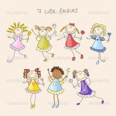 patrón de fondo decorativo hadas linda perfecta ilustración - Ilustración de stock: 29281941