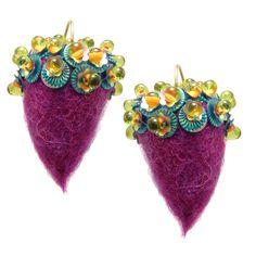 Felted Acorn Earrings - Gail Crosman Moore