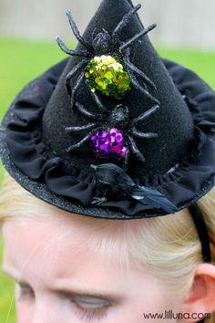 ADORABLE DIY Witch Hat Tutorial on { lilluna.com }
