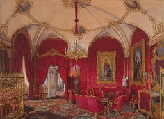 Interiors of the Winter Palace. The Fourth Reserved Apartment. The Corner Room