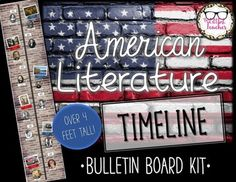 Create a quick and easy bulletin board that doubles as a visual aid with this American Literature timeline kit! English Teaching Resources, Teaching Literature, Teaching Strategies, Secondary Resources, Teaching Methods, Teaching Philosophy, Philosophy Of Education, History Classroom, Ela Classroom