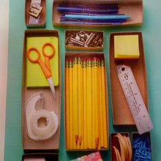 Drawer Organizer made from cereal boxes!