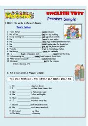 English Exercises: Present Simple and Plural Activities