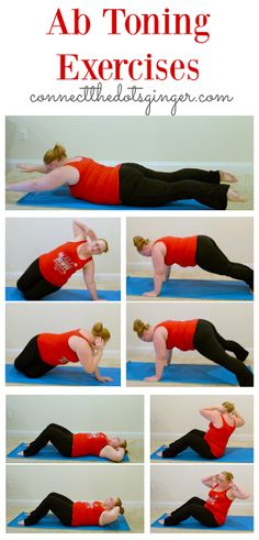 Plus size fitness | Ab toning exercises. Helping to strengthen your core after baby.