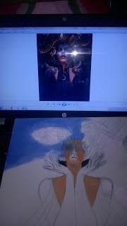 Universo Lalo: MEDEIA  pintura mulher medeia arte medusa #pintura #mulher #medeia #arte #medusa