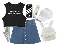 """""""A beat on top of another beat"""" by maddysleepy ❤ liked on Polyvore featuring Monki, adidas, rag & bone, cutekawaii and adidas Originals"""