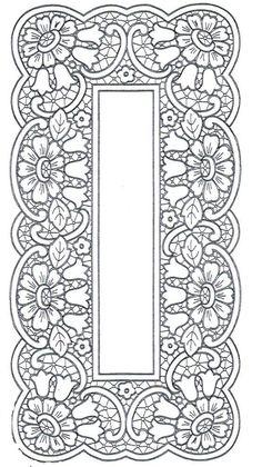 Ubrus obdélník richelieu, 97 x 48 cm: