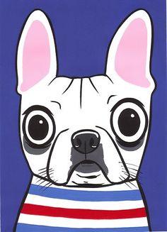 White French Bulldog Original Painting