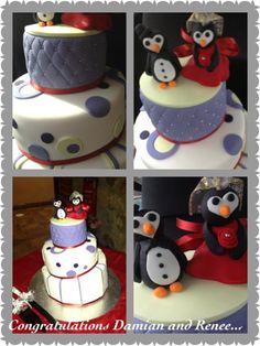 Wedding cake. With penguins....!