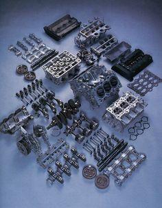 honda v6 engine disassembled