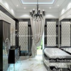 Дизайн дома в стиле арт-деко в Крыму. Ванная