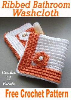 Free crochet pattern for ribbed washcloth, pair it with my soap saver and toilet tissue cover to make a matching set from Source by KTRedLion The post Crochet Ribbed Bathroom Washcloth appeared first on Seifen Welt. Crochet Kitchen, Crochet Home, Easy Crochet, Crochet Gratis, Free Crochet, Knit Crochet, Crochet Stitch, Crochet Designs, Crochet Patterns