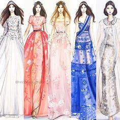 Couture Week by @hnicholsillustration  by lovinghautecouture