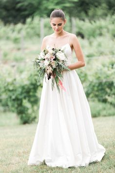 Rachelle + Kevin's Dreamy Barn Wedding| Gown: Lovely | Image: Cory Weber
