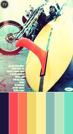 #Color palette inspiration => Vintage Surf Magazines