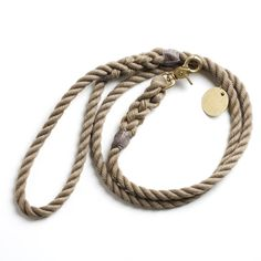 Found My Animal natural and brass leash