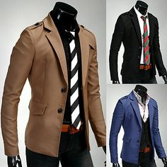 2015 New Arrival Men's Spring Brand Casual Blazers Button Stylish Slim casual Blazer Male Fashion Suit Jacket High Quality Casual Blazer, Blazer Suit, Blazer Jacket, Suit Fashion, Mens Fashion, Blazers For Men, Blazer Buttons, Stylish Outfits, Shirt Style