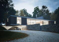 Découvrez cette maison contemporaine de plain pied atypique réalisée par des architectes anglais !