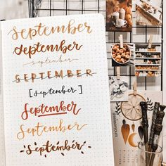 ideas for weekly spreads studygram study gram calligraphy writing idea inspiration month dates study college leaf layout one page tips quotes washi tape bullet journal bujo planner
