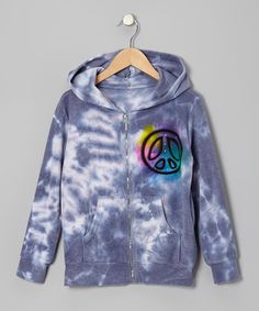 Take a look at this Blue Tie-Dye Dancing Bear Zip-Up Hoodie - Girls by Penelope Wildberry on #zulily today!