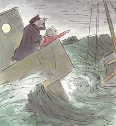 Little Tim and the Brave Sea Captain illustrated by the wonderful Edward Ardizzone Edward Ardizzone, Children's Book Illustration, Book Illustrations, Sea Captain, Sky Sea, English Artists, Vintage Children's Books, Children's Literature, Childrens Books