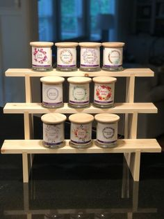 This is a woman-owned woodwork shop specializing in handcrafted collapsible vendor display shelves. Craft Stall Display, Craft Show Booths, Craft Booth Displays, Display Shelves, Shelving, Display Ideas, Vendor Displays, Market Displays, Jewelry Displays