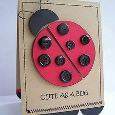 Cute as a bug card