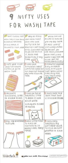 Washi tape is one of the least messy craft supplies out there, and you can use it for so. many. things. | How To Actually Use These 11 Essential Craft Supplies The Right Way