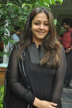 Jyothika Surya wearing Black Salwar Kameez