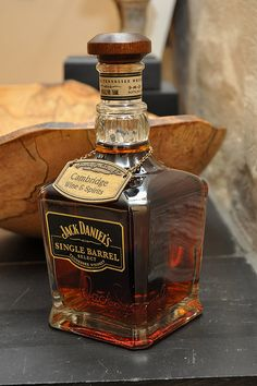Jack Daniels' Single Barrel Tennessee Whiskey from Cambridge Wine and Spirits Cigars And Whiskey, Scotch Whiskey, Bourbon Whiskey, Tennessee Whiskey, Alcohol Bottles, Liquor Bottles, Drink Bottles, Fun Drinks, Alcoholic Drinks