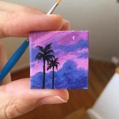 I have a bunch of new mini paintings that are going to be available at my upcoming show! My favorite… Cute Canvas Paintings, Small Canvas Art, Mini Canvas Art, Mini Paintings, Small Art, Dark Art Drawings, Acrylic Artwork, Aesthetic Painting, Art Club