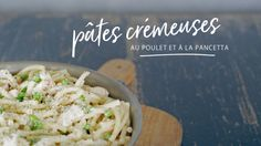 Pâtes crémeuses au poulet et à la pancetta Quebec, Potato Salad, Cabbage, Sweet Treats, Nutrition, Pasta, Healthy Recipes, Chicken, Vegetables