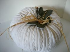 sweater pumpkin...both a sew and a no-sew version!
