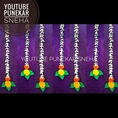 Decoration For Ganpati, Background Decoration, Diwali Decorations, Eco Friendly, Crochet Necklace, Crafts, Color, Jewelry, Ideas