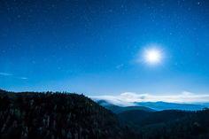 Moon Rising Over Asheville, NC by jon_beard #photography