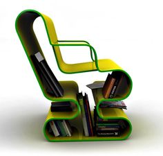 I don't know if this would be comfortable, but if it is it would be the Perfect Reading Chair!