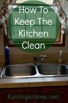 Early on in our married life it became apparent a clean kitchen was not going to come naturally to me. Even before I had children, I couldn't seem to keep up with the kitchen work. Cleaning Recipes, House Cleaning Tips, Spring Cleaning, Cleaning Hacks, Deep Cleaning, Kitchen Cleaning, Tips & Tricks, Clean Dishwasher, Homekeeping